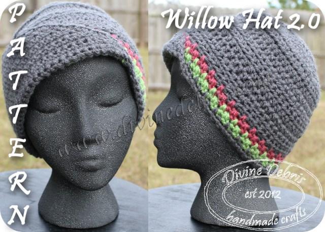 Willow Hat 2.0 Pattern by Divine Debris