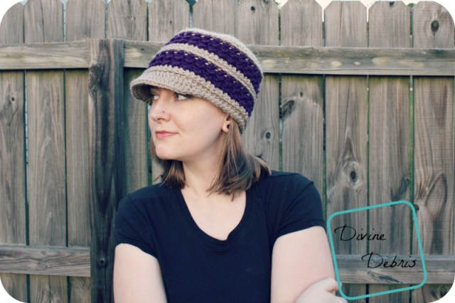 Diana Newsboy Hat free crochet pattern by DivineDebris.com
