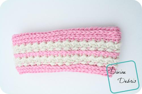 Diana Ear Warmer Crochet Pattern by DivineDebris.com
