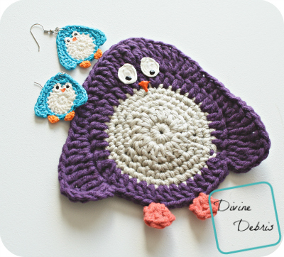 Pretty Penny! Free Penguin Applique and Earrings Pattern