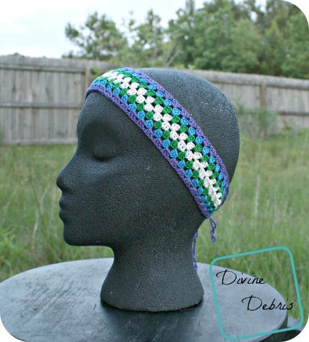 Carly Headband free crochet pattern by DivineDebris.com