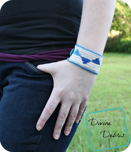 Tiffany Bracelet a free crochet pattern by DivineDebris.com