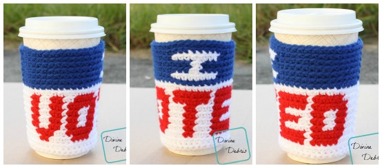 I Voted Mug Cozy