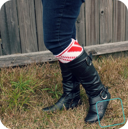 Candy Cane Boot Cuffs by DivineDebris.com