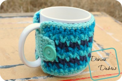 Willow Cup Cozy free crochet pattern by DivineDebris.com