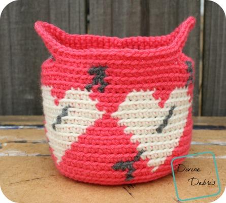 Heart Basket crochet pattern by DivineDebris.com