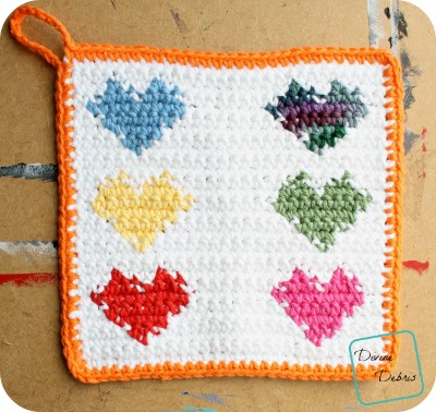 Heart Hotpad free crochet pattern by DivineDebris.com