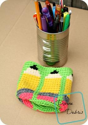 Dancing Pencils Cup crochet pattern by DivineDebris.com