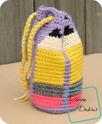 Dancing Pencils Bag free crochet pattern by DivineDebris.com