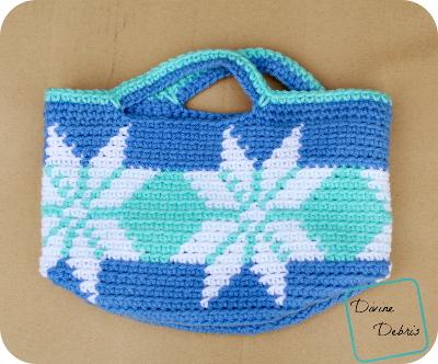 Pretty Snowflakes Basket Free Crochet pattern by DivineDebris.com