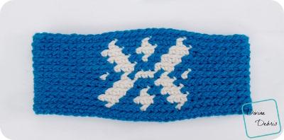 Snowflake Earwarmer free crochet pattern by DivineDebris.com