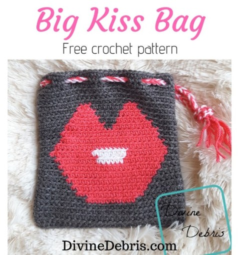 Big Kiss Bag free crochet pattern by DivineDebris.com
