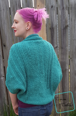 Tasha Tunisian Shrug crochet pattern by DivineDebris.com