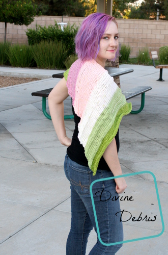 Tasha Shawl free crochet pattern by DivineDebris.com