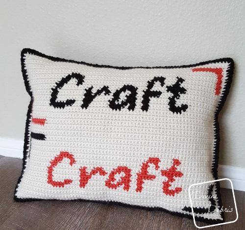 Craft Pillow free crochet pattern by DivineDebris.com