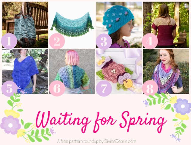 Waiting For Spring - A free crochet pattern roundup by DivineDebris.com