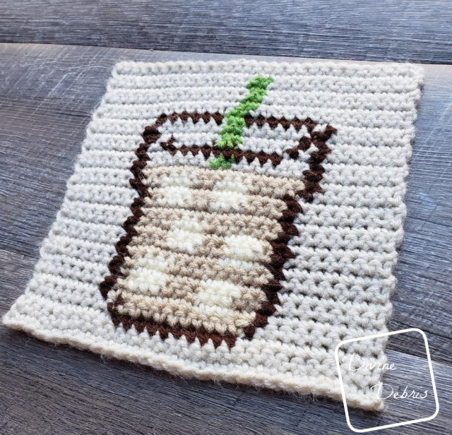 8″ Tapestry Iced Coffee Afghan Square free crochet pattern by DivineDebris.com