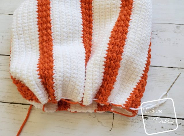 Simple Striped Pumpkin Amigurumi free crochet pattern by DivineDebris.com