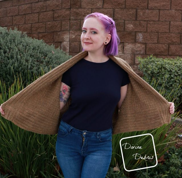 Raquel Cardigan free crochet pattern by DivineDebris.com