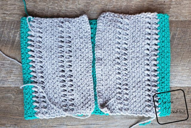 The Whitney Cowl folded before seaming