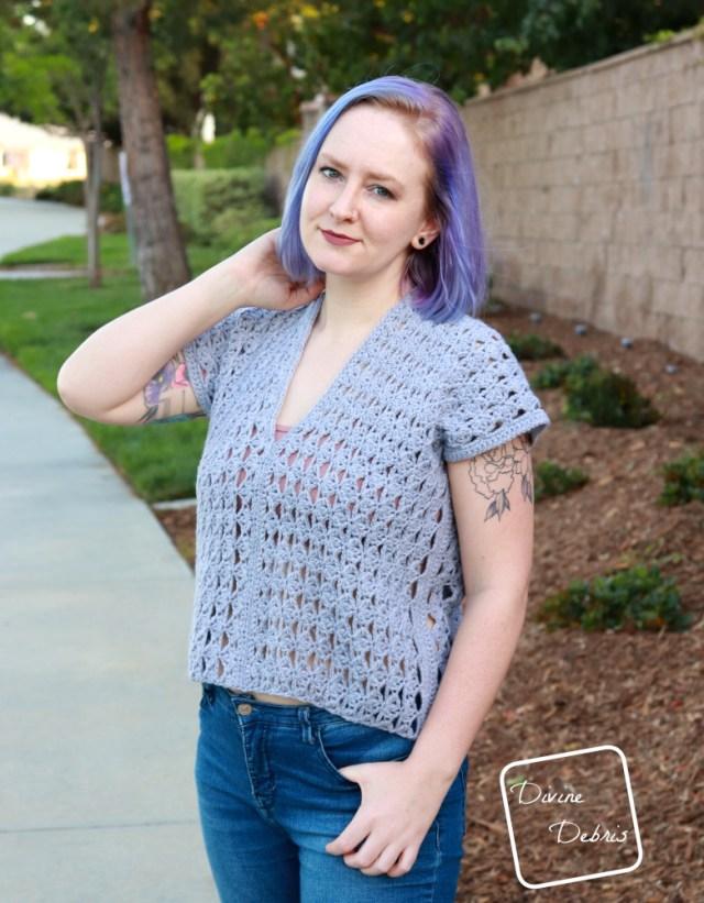 Harper Shirt free crochet pattern by DivineDebris.com