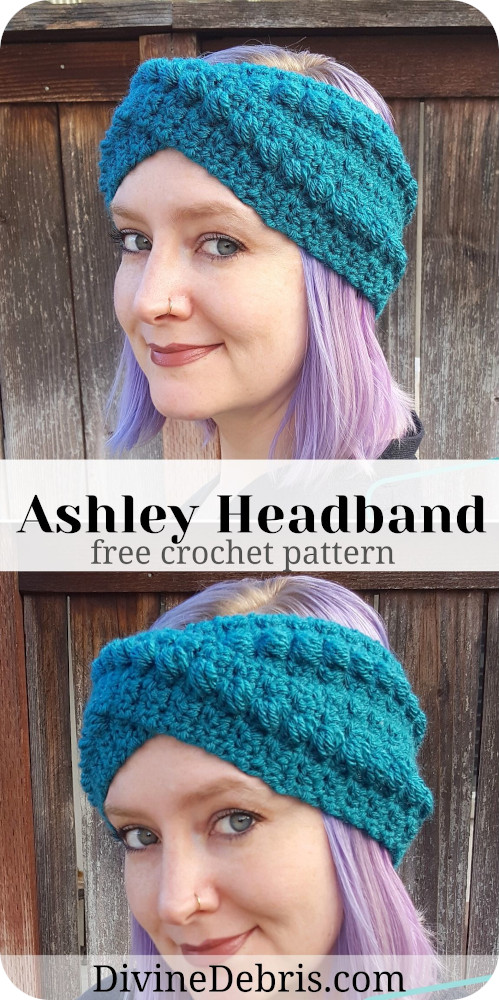 Get fashionable during those colder months with Ashley Headband crochet pattern free by Divine Debris. Easy to customize, you'll want to wear it everywhere