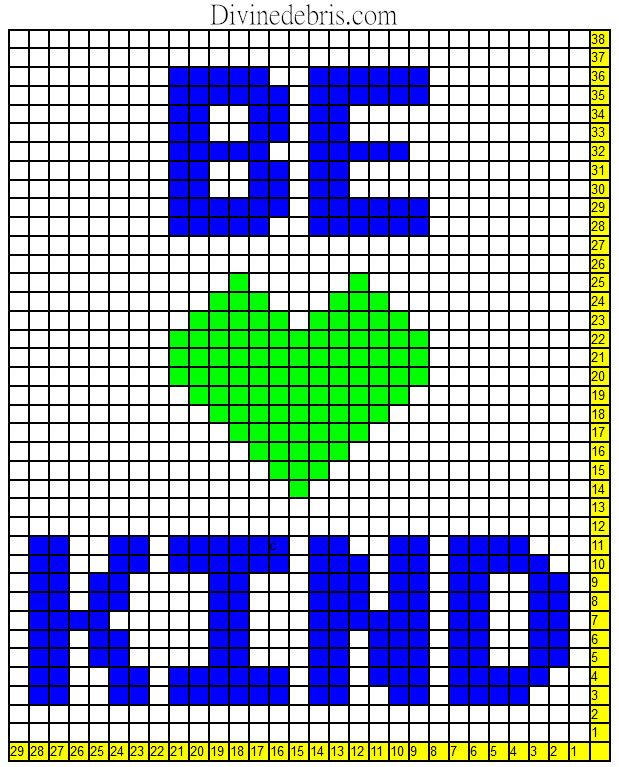 Be Kind Mini C2C Wall-Hanging Graph