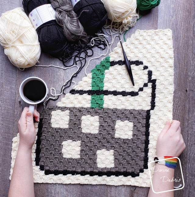 Iced Coffee C2C Afghan Square free crochet pattern by DivineDebris.com