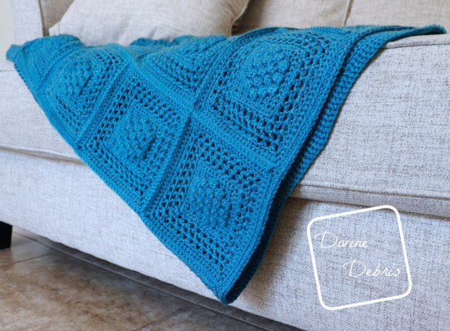 Winterberry Throw free crochet pattern by DivineDebris.com