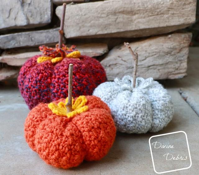 Crinkle Pumpkin Amigurumi free crochet pattern by DivineDebris.com