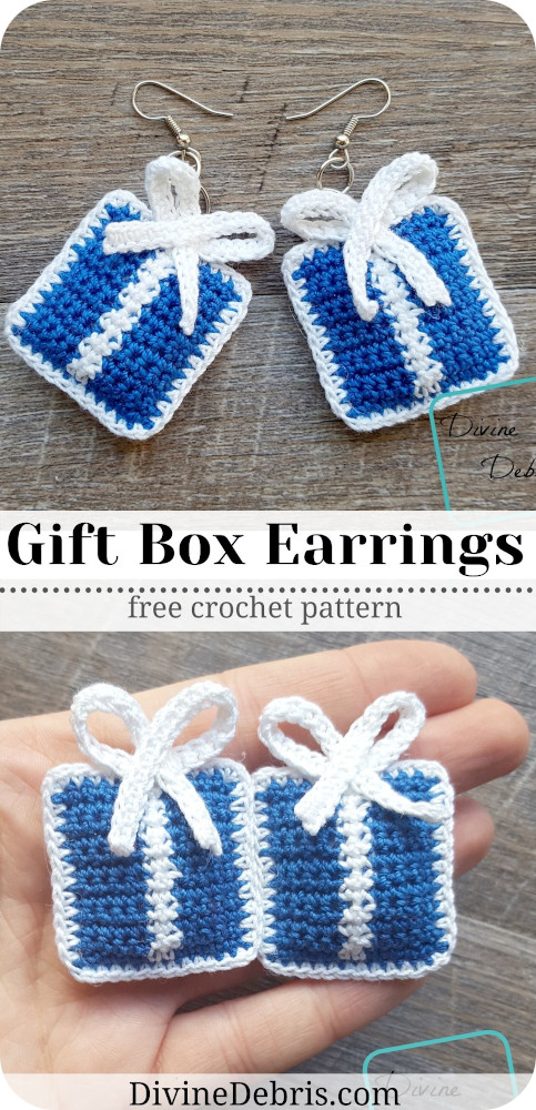 Make them for Christmas! Or birthday! Or just for fun. The Gift Box Earrings free crochet pattern is a great gifting option any time.