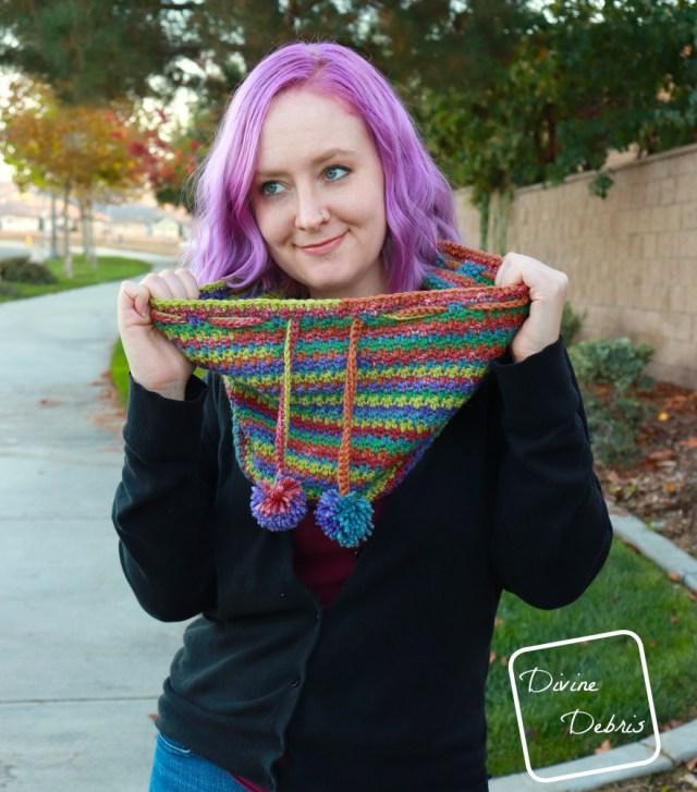 Kelsey Cowl free crochet pattern by DivineDebris.com