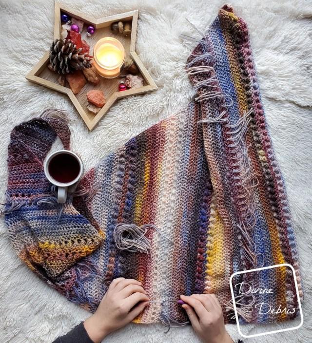 Loretta Shawl free crochet pattern by DivineDebris.com