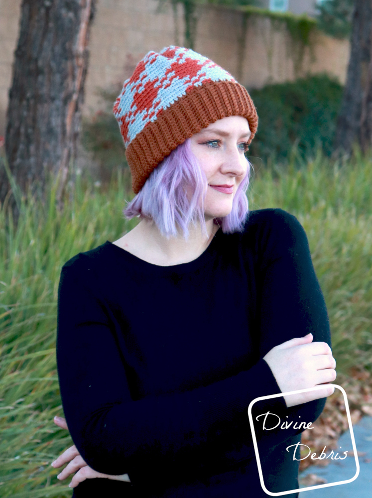 Gingham is Pretty in this New Free Beanie Crochet Pattern