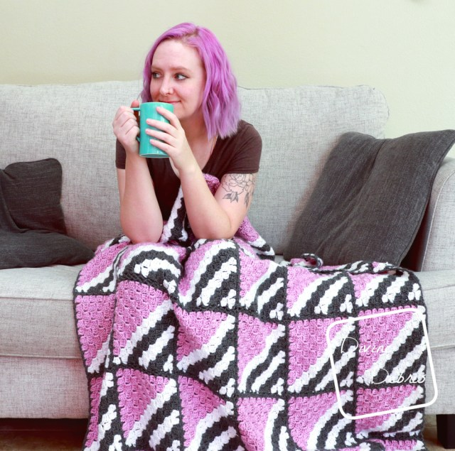 Learn to make the fun, easy, and delightfully customizable C2C blanket, the Neapolitan Blanket, from a free crochet pattern by Divine Debris