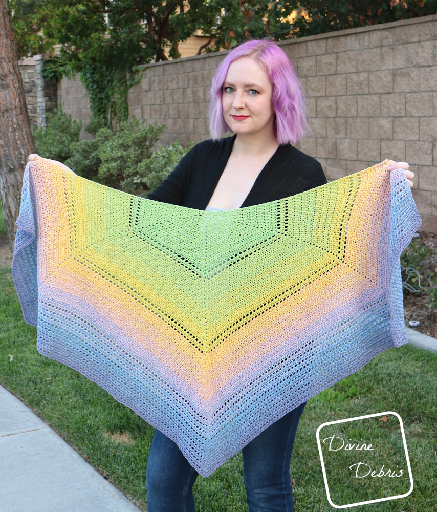 Make It Flow with the Free Alix Shawl Crochet Pattern