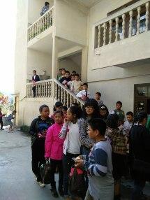 Christmas refreshment queue
