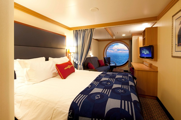 Disney Dream Cruise Ship Cabins Deluxe Family Oceanview Stateroom
