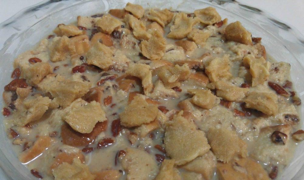 Chocolate Chip Brioche with Georgia Pecans Bread Pudding Recipe #betterwithbrioche