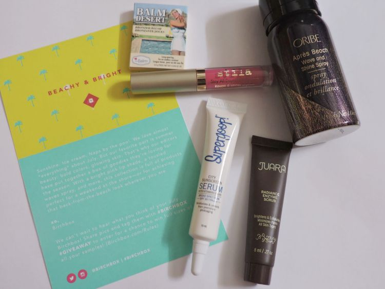 Birchbox Beauty Box Reveal July 2015 #beauty #birchbox #makeup #style