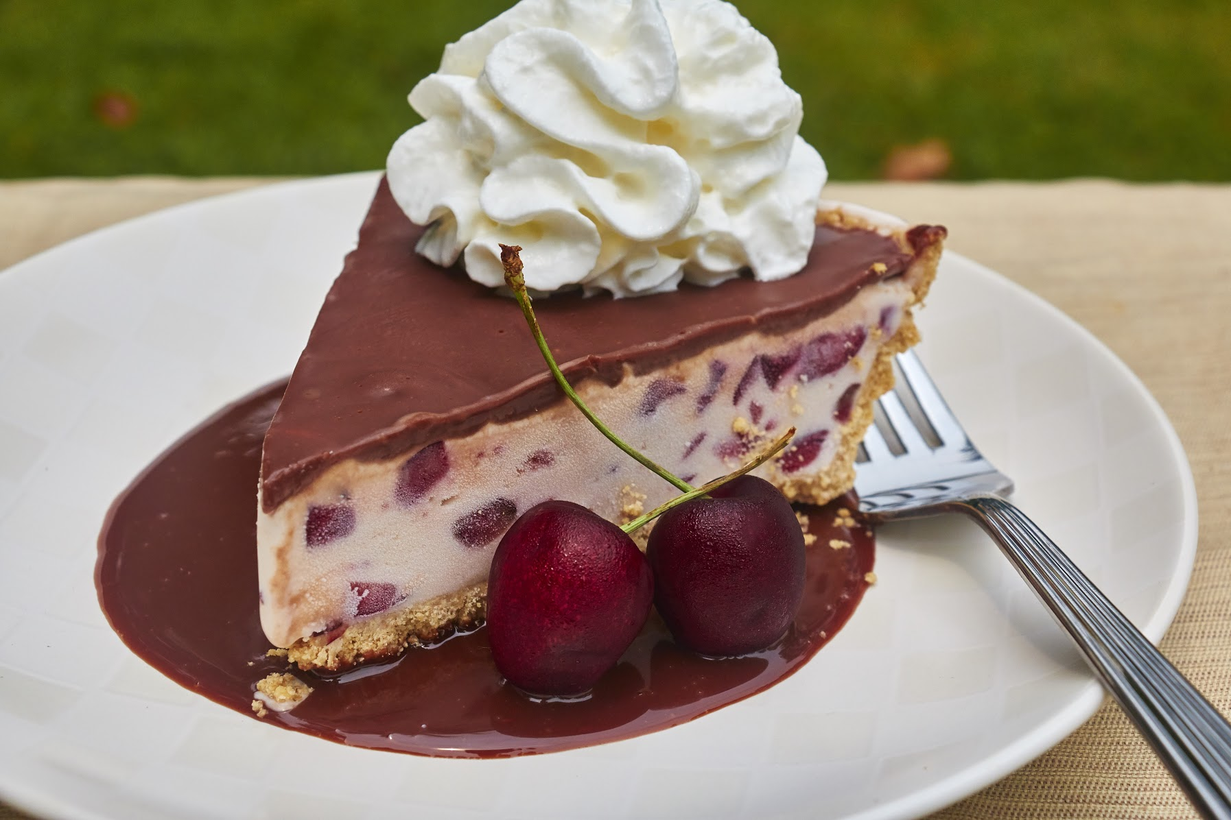 Fresh Cherry & Frozen Custard Pie Recipe with EDY'S® Old Fashioned Vanilla Frozen Custard 6