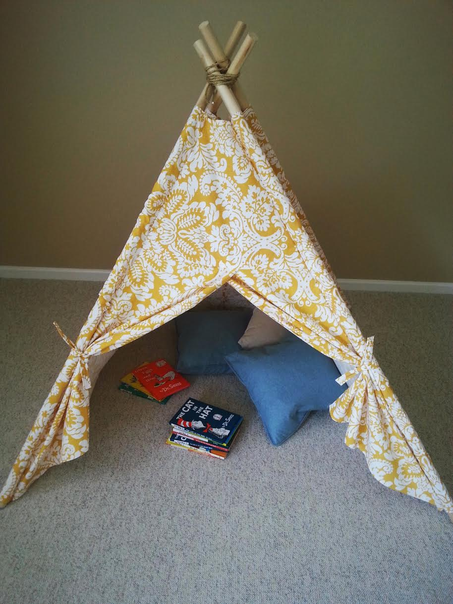 Diy kids teepee tent tutorial for Build your own canvas tent