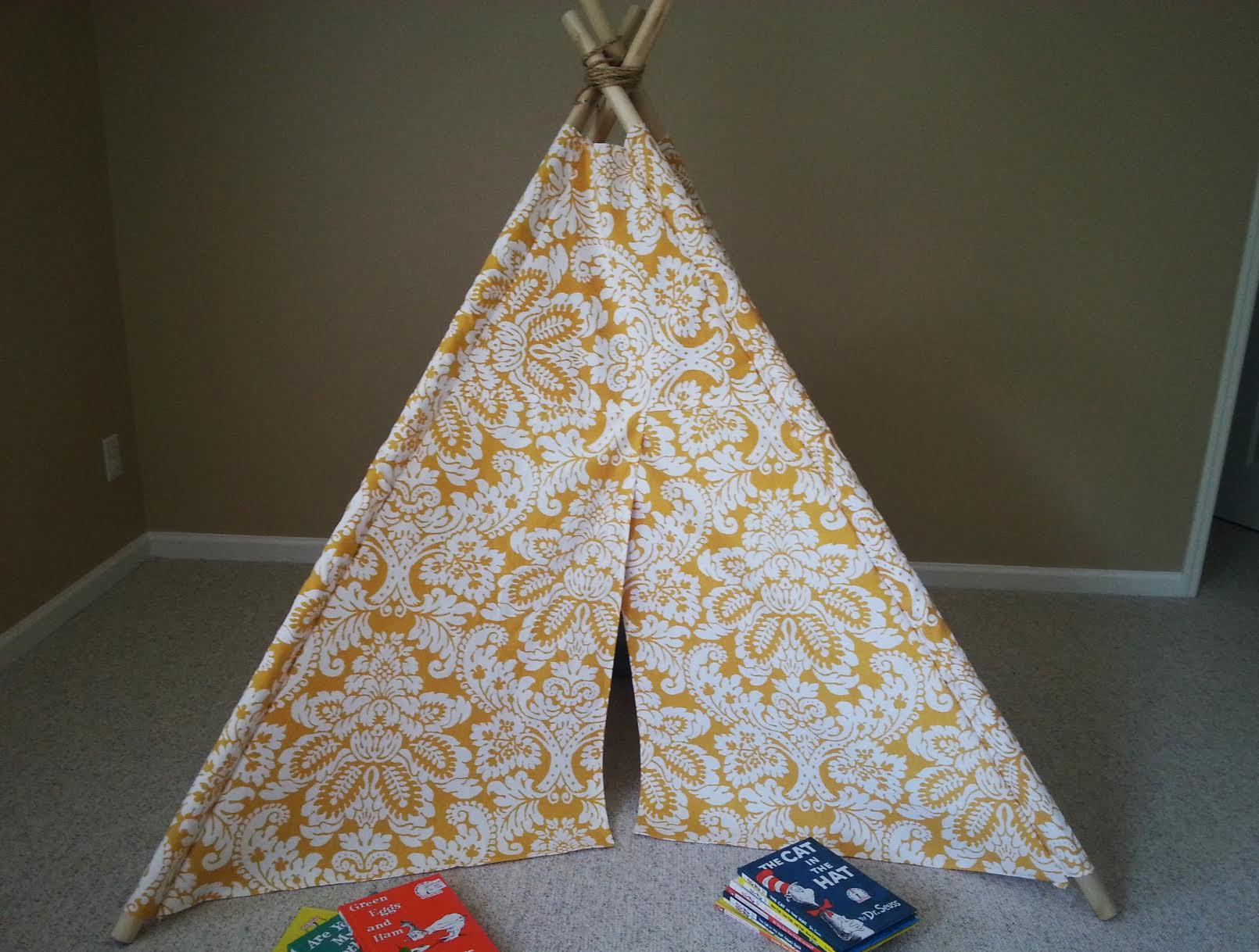 DIY Kids Teepee Tent Tutorial