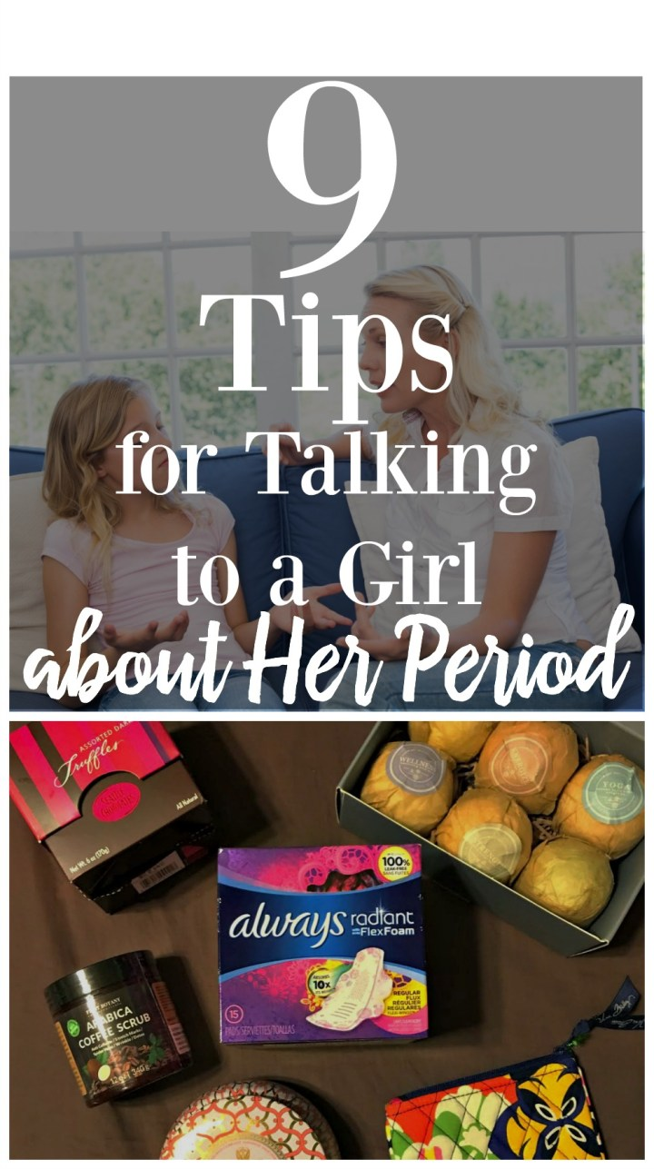 9 Tips for Talking to a Girl about Her Period #WearWhatYouWant #BeRadiant