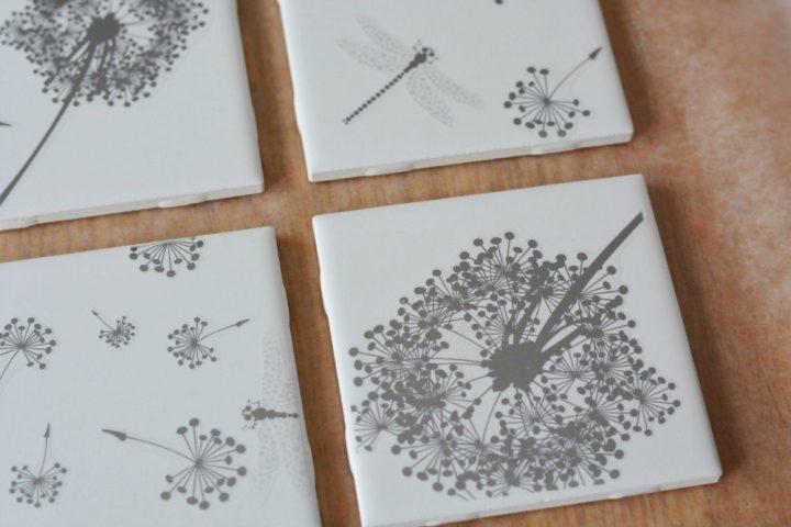 Easy DIY Tile Coasters Craft Girls Night In Gift