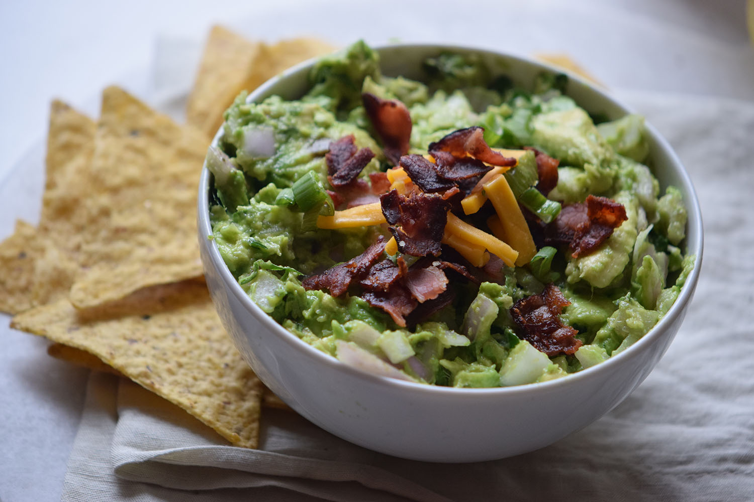 Bacon Cheddar Guacamole Recipe