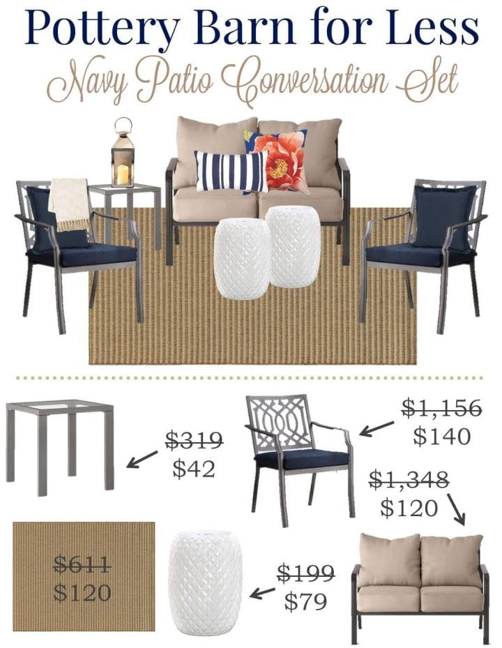 pottery barn and target patio sets