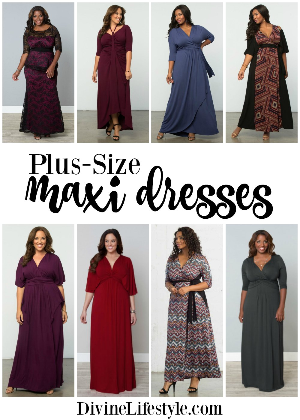 Plus-Size Maxi Dresses