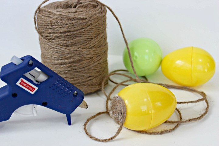 Easy DIY Twine Wrapped Easter Eggs