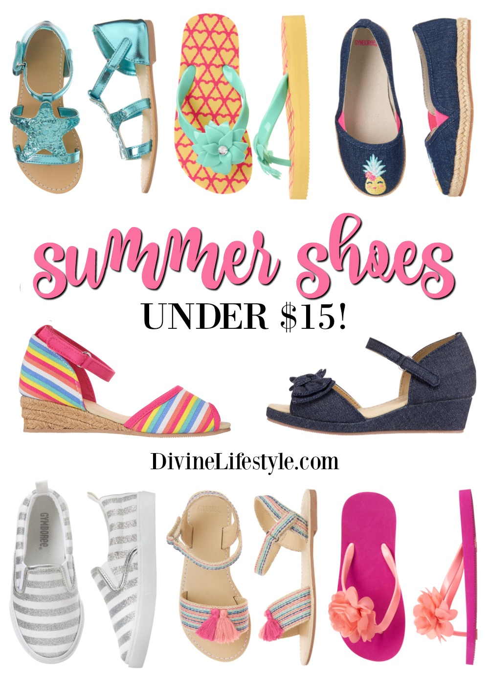 Fun Summer Shoes for Girls Under $15